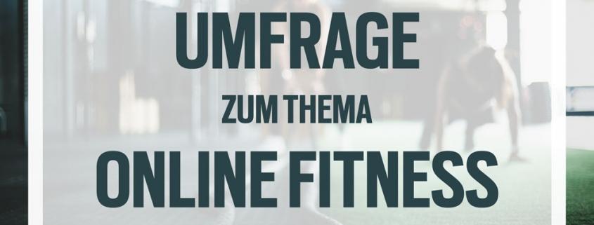 """Umfrage """"Online Fitness Angebote"""""""